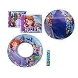 """4-piece Disney Princesses Pool Toy Swim Set: Disney Sofia The First Beach Ball (16""""), Princess Sofia"""