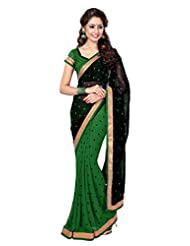 Sourbh Saree Fabulous Lace Work Faux Georgette Must Have Best Sarees For Women Party Wear, Karwa Chauth Gifts...
