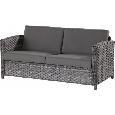 4 Seasons Outdoor Lodge 2.5-Sitzer Sofa Polyrattan Duet Charcoal