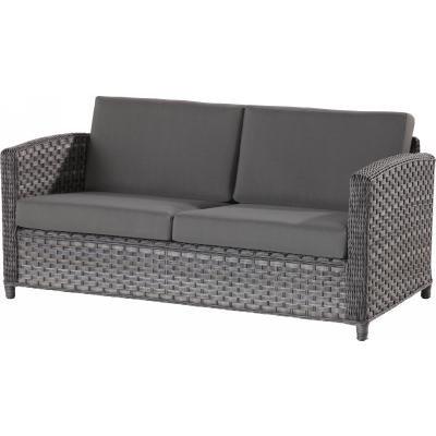4 Seasons Outdoor Lodge 2.5-Sitzer Sofa Polyrattan Duet Charcoal