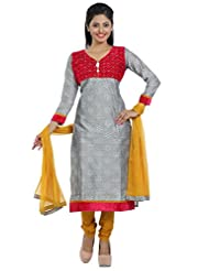Idha Pink Straight Fit Cotton Silk Salwar Suit For Women