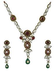 Anuradha Art Multi Colored Kundan Necklace Set For Women