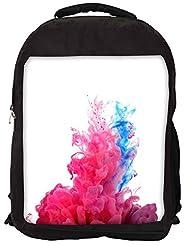 Snoogg Colour Burst Backpack Rucksack School Travel Unisex Casual Canvas Bag Bookbag Satchel