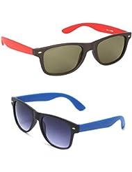 New Stylish UV Protected Combo Pack Of Sunglasses For Women / Girl ( RedWayfarer-RoyalblueWayfarer ) ( CM-SUN-...