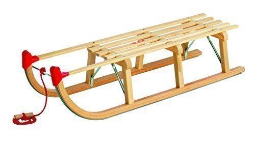 Davoser-Rodel 110 cm Länge-Verstärkte Version - incl. Zugseil