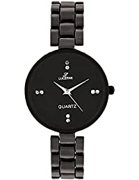LUCERNE Analogue Black Designer Dial Metal Strap Female Gift Watches For Women A Modern Ladies Watch Summer Sale...