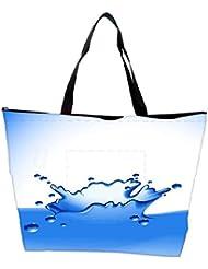 Snoogg Clear Water Splash Vector Waterproof Bag Made Of High Strength Nylon - B01I1KHHX8