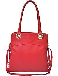 Dezino Red Hand Bag Shoulder Bag For Ladies ST_18