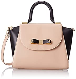 Ted Baker Bow Leather Mini Tote Shoulder Bag,Taupe,One Size