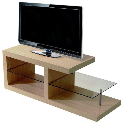 halo chunky tv entertainment unit coffee table oak