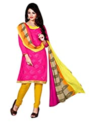 Limemode Women's Cotton Unstitched Dress Material (WASS000196_Pink_Free Size)