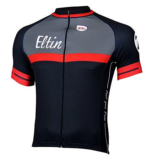 Eltin Torino - Maillot para hombre, color negro / rojo / blanco, talla XL