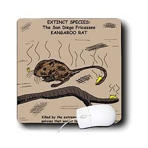 Rich Diesslins Funny General - Editorial Cartoons - San Diego Kangaroo Rat - Extinct - Mouse Pads