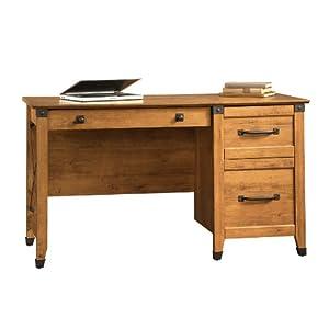 Amazon.com: Sauder Registry Row Desk, Amber Pine: Kitchen