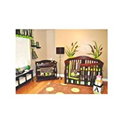 10pc Frog Nursery Crib Bedding Set Brown & Green - Pollywog Pond