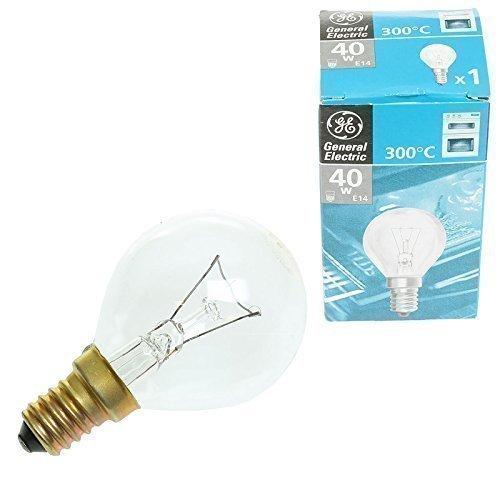 Ampoule four cuisinière universelle longue durée E14 40W 300 degrés compatible avec cuisinières Neff Bosch Siemens Hotpoint AEG