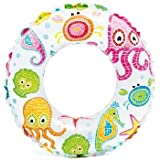24 Inch Inflatable Swim Ring - Blow Up Floating Tube Raft Tube For Swimming Pool Beach (Marine)