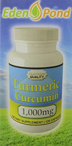 Eden Pond Turmeric Curcumin Capsules, 1000 mg, 120 Count