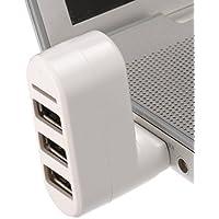 Shrih White 3 Port USB Hub And Card Reader Combo