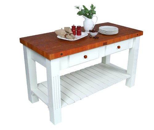 cheap kitchen island table boos grazzi kitchen island table w cherry top amp white 5307