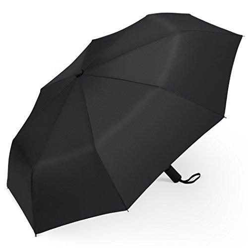 PLEMO Parapluie Noir Classique de Voyage Pliable Automatique