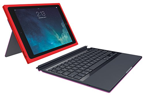 Logitech BLOK Protective Keyboard Case For IPad Air 2, Red/Violet (920-007418)