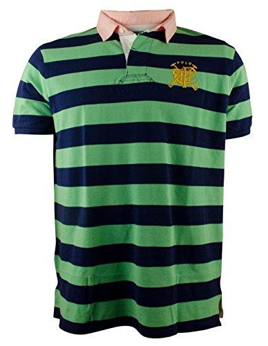 Custom-Fit Polo Ralph Lauren de Cruz diseño a rayas Rugby Polo de manga corta para mazos - XXL