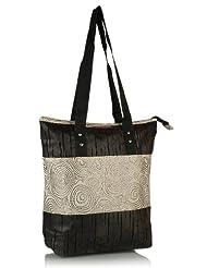 Home Heart Women's Eco Friendly Tote Bag (Brown/Silver) - B00KG7W4N8