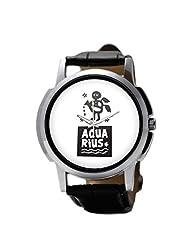 PosterGuy Aquarius Zodiac Sign Men's Wrist Watches