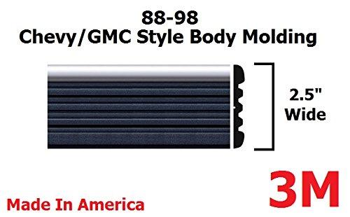 1988-1998 Chevy GMC Chrome Side Body Trim Molding Tahoe Suburban Silverado Pickup Truck – 2.5″ – Tahoe, Suburban, Silverado, C1500, C2500, C3500, K1500, K2500, K3500, Blazers