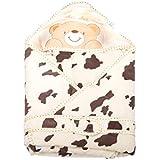 Mee Mee Baby Wrapper Blanket With Hood (Cream)