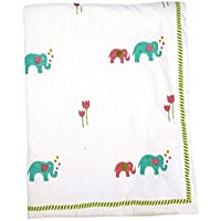 Cocobee Baby Quilt In Handblocked Prints - B01H3R4Z9O