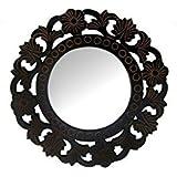 Desi Karigar Wooden MDF Decorative Hand Carved Wall Mirror