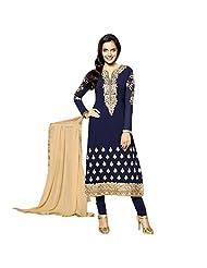 Blue Georgette Designer Party Wear Pakistani Salwar Kameez Semi Stitched