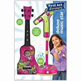 First Act Discovery Deluxe Music Star Play Set, Pink Butterfly - Toys & Games - Toy Stringed Instruments - Mic and amp: Adjustable mic stand to 40