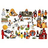 Mother Goose On The Loose-13 Nursery Rhymes- 50+ Felt Figures For Flannel Board Stories +Rhymes/colo