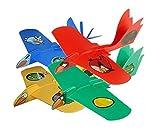 (4 Variety Pak) Super Looper Angry Birds SPACE Indoor/Outdoor Boomerang Plane- Red, Blue, Yellow Boomerang Birds