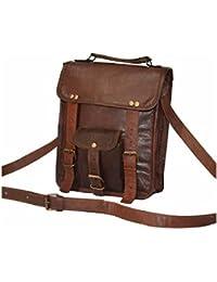 Pranjals House Genuine Brown Leather Messenger Sling Bag