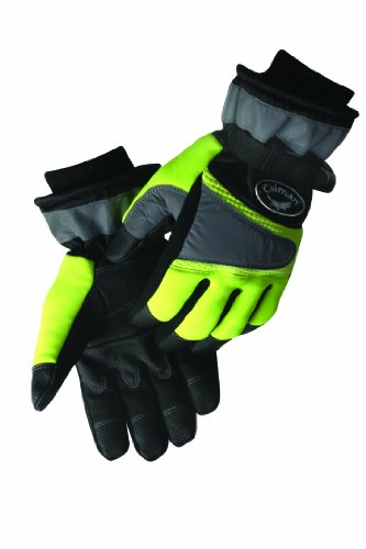 Caiman Waterproof Winter Multi Activity Gloves Black and Hi Viz Lime