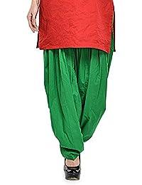Green Patiala Women's Cotton Patiala Bottoms