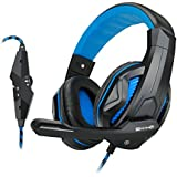ENHANCE GX-H2 Stereo Gaming Headset With Comfortable Ear Padding And Adjustable Mic - Works With Call Of Duty:...