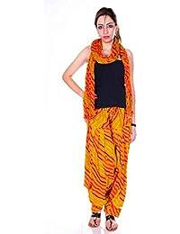 Kismat Collection Women's Pure Cotton Printed Patiala & Duppta Sets (Free Size)