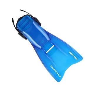 Amazon.com : U.S. Divers Rip Fins, Translucide Blue, Large ...