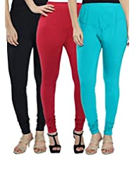 Meethi Women's Leggings (pack Of 3) - B00Q8M08EM