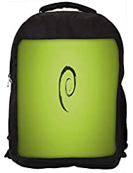 """Snoogg E On Green Pattern Design Casual Laptop Backpak Fits All 15 - 15.6"""" Inch Laptops"""