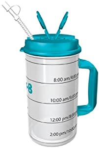 Amazon.com: Hydr-8 Water Bottle - Time Marked Air