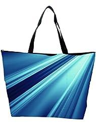 Snoogg Abstract Blue Pattern Design Designer Waterproof Bag Made Of High Strength Nylon - B01I1KKHMQ