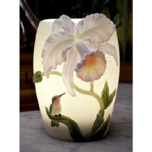 Hummingbird & Cattleya Orchid Night Lamp