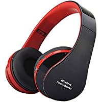 Coromose Professional Gaming Headset Foldable Wireless Bluetooth Stereo Headset Headphones Mic Red