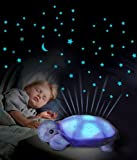 Evana Turtle Night Sky Constellations Projector Lamp, Plush Toy - Put your Little Ones to Sleep with Lights and Music